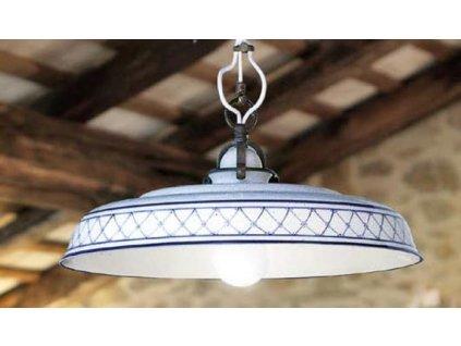 Porcelánové závěsné stropní svítidlo retro Linea Provenza