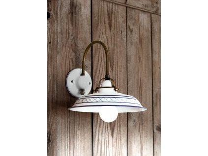 Porcelánová nástěnná lampa retro Linea Provenza