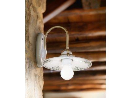 Porcelánová nástěnná lampa retro Linea Tesa