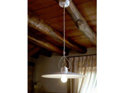 Porcelánové závěsné stropní svítidlo retro Linea Tesa 1