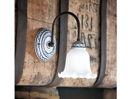 Porcelánová nástěnná lampa retro Linea Torcio