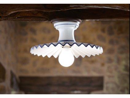 Porcelánové stropní přisazené svítidlo retro Linea Cappe