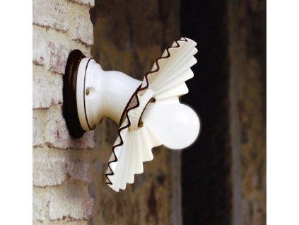 Porcelánové nástěnné svítidlo retro Linea Cappe