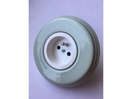Rámeček Garby Colonial porcelánový/zelený pastel
