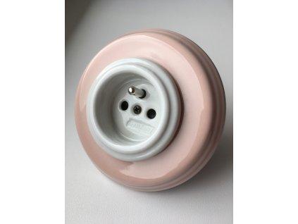 Rámeček Garby Colonial porcelánový/růžový pastel