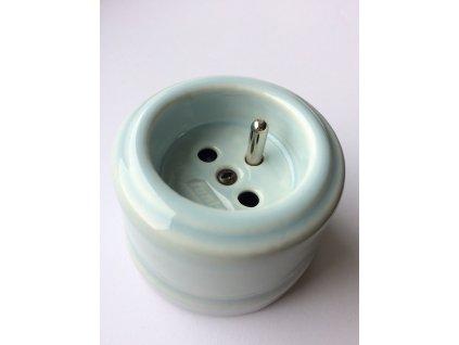 Porcelánová zásuvka GARBY spec. modrý pastel