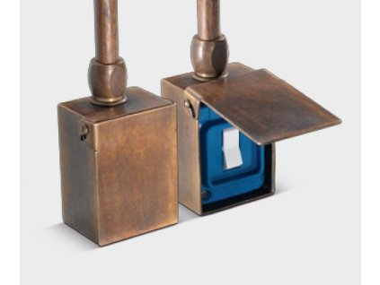 Nástěnný vypínač retro mosaz, jeden spínač
