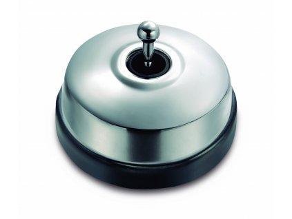 Porcelánový vypínač Dimbler černá - kryt chrom/páčka chrom