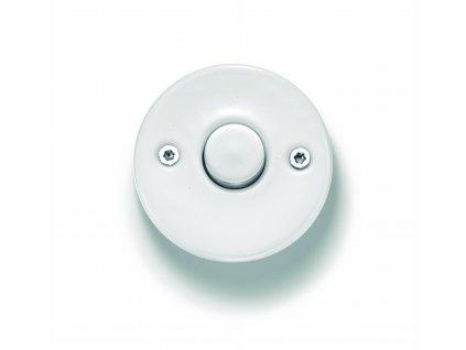 Porcelánové tlačítko DO bílé
