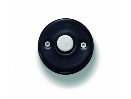Porcelánové tlačítko DO černé