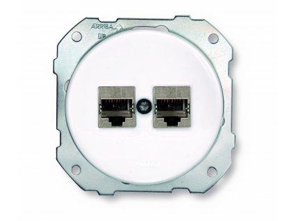 Dvojitá porcelánová PC zásuvka DO FIT stíněná