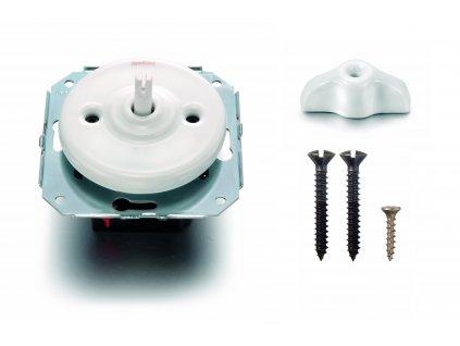 Porcelánový vypínač Garby Colonial bílý/retro klička bílá