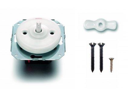 Porcelánový vypínač Garby Colonial bílý/klička bílá