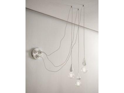 Stropní svítidlo retro Linea Fate pro sestavy - bílé