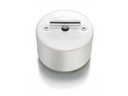 Porcelánové otočné tlačítko DO bílá