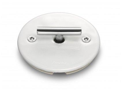 Porcelánový vypínač LOW bílý/klička chrom