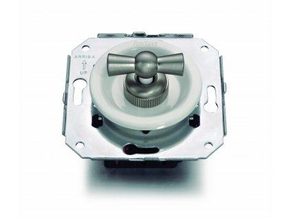 Plastový vypínač Venezia bílý/niklová klička