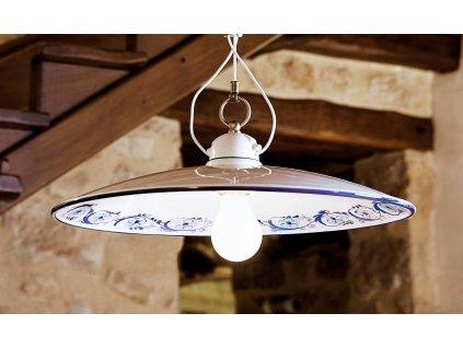 Porcelánové závěsné stropní svítidlo retro Linea Bilancia 1