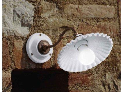Porcelánová nástěnná lampa retro Linea Duse