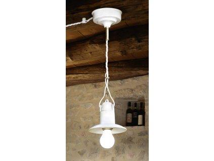 Porcelánové závěsné stropní svítidlo retro Linea Isola
