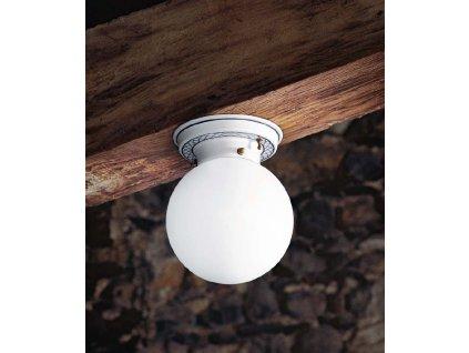 Porcelánové stropní svítidlo retro Linea Mansarda