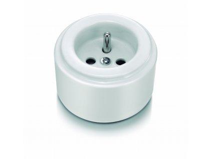Porcelánová zásuvka DO SURFACE/bílá