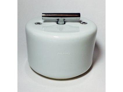 Porcelánový vypínač DO SURFACE bílý/klička chrom