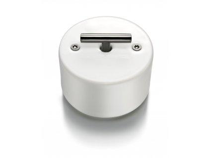 Porcelánový vypínač DO SURFACE bílý/klička tmavý nikl