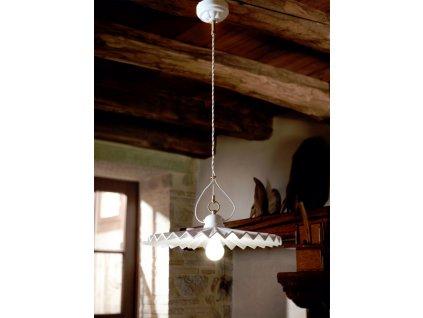 Porcelánové závěsné stropní svítidlo retro Linea Piega 2