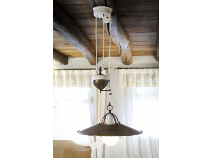 Stahovací svítidlo retro s protizávažím Linea Postiglione