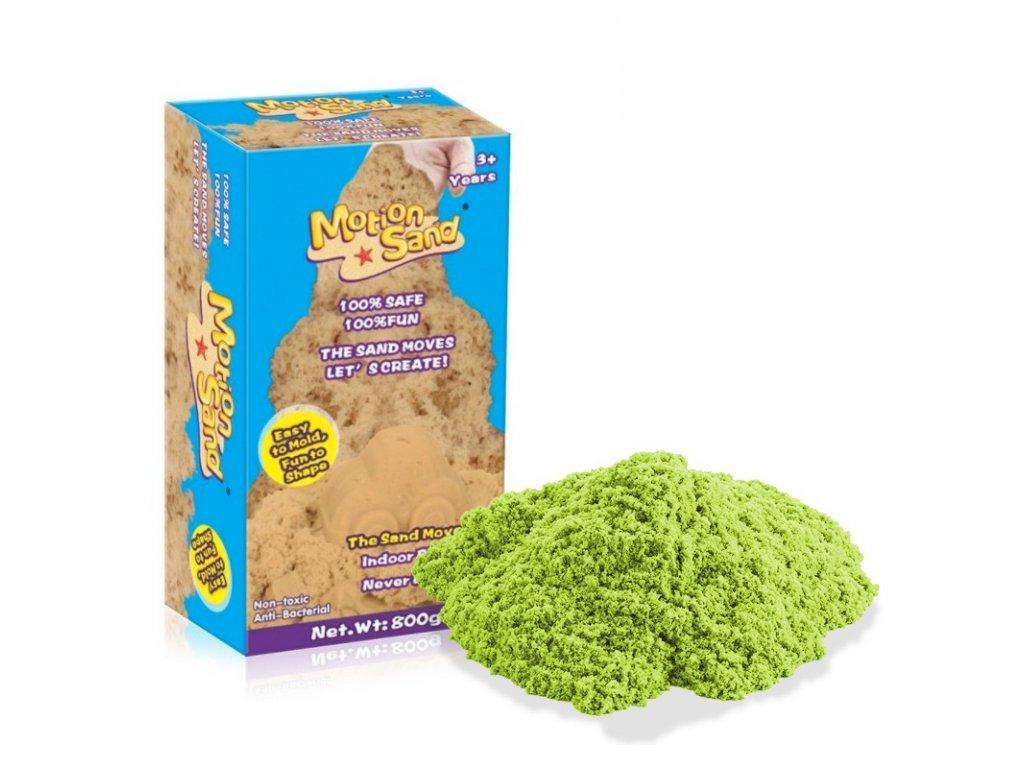 Měsíční písek Náhradní balení - MOTION SAND 800g - světle zelená barva