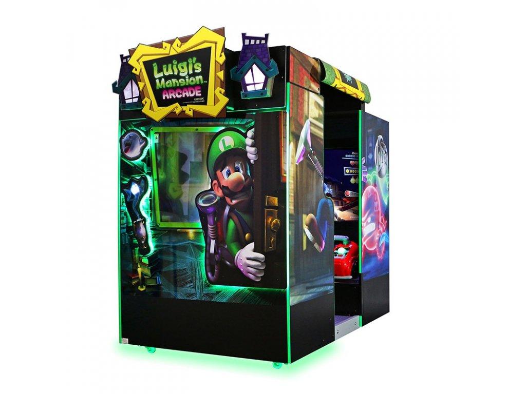 Interaktivní arkádová dobrodružná hra - Luigi's Mansion Arcade