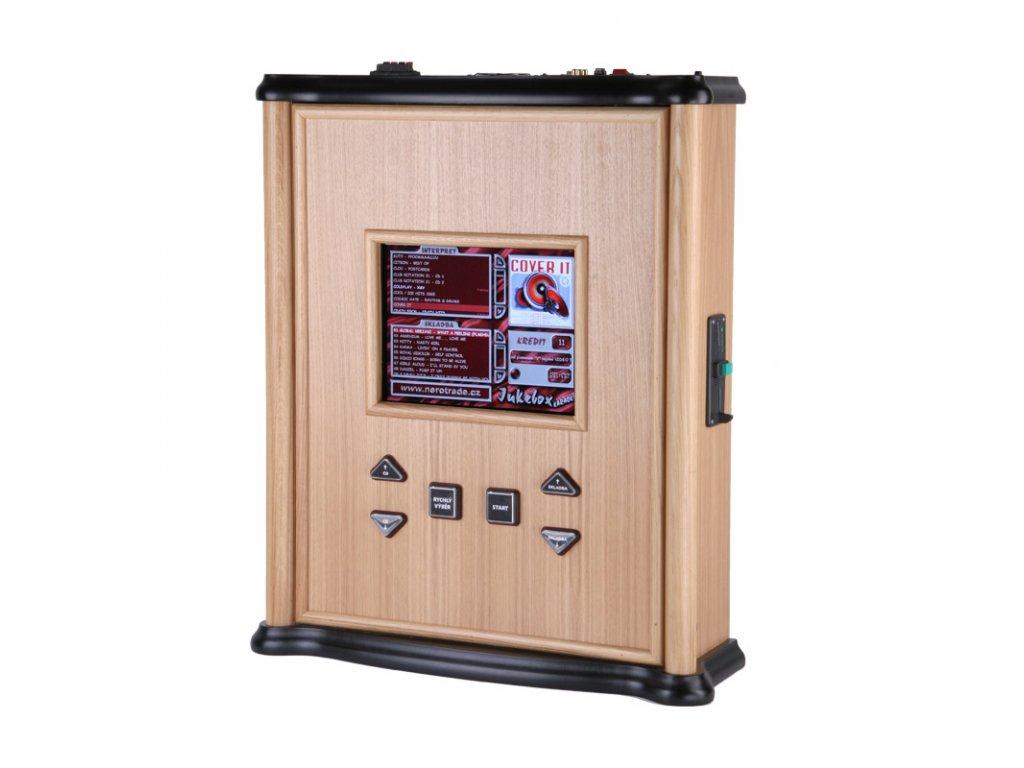 Použitý dřevěný nástěnný jukebox MINI PLUS – audio, video, karaoke, HDMI