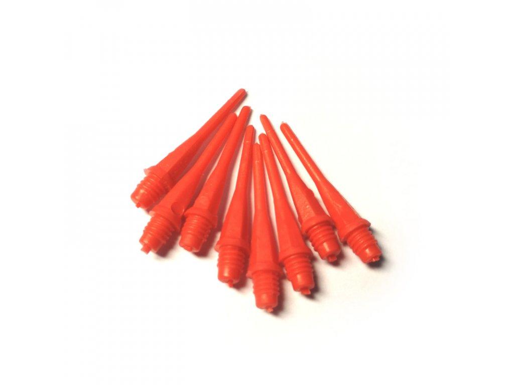Plastový měkký hrot k šipkám - 25 mm, 2BA úzký závit, červená