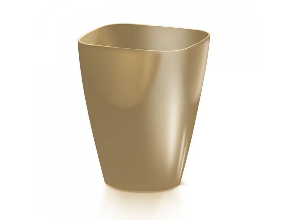 Květináč COUBI ORCHID hranatý káva s mlékem 13,2c m
