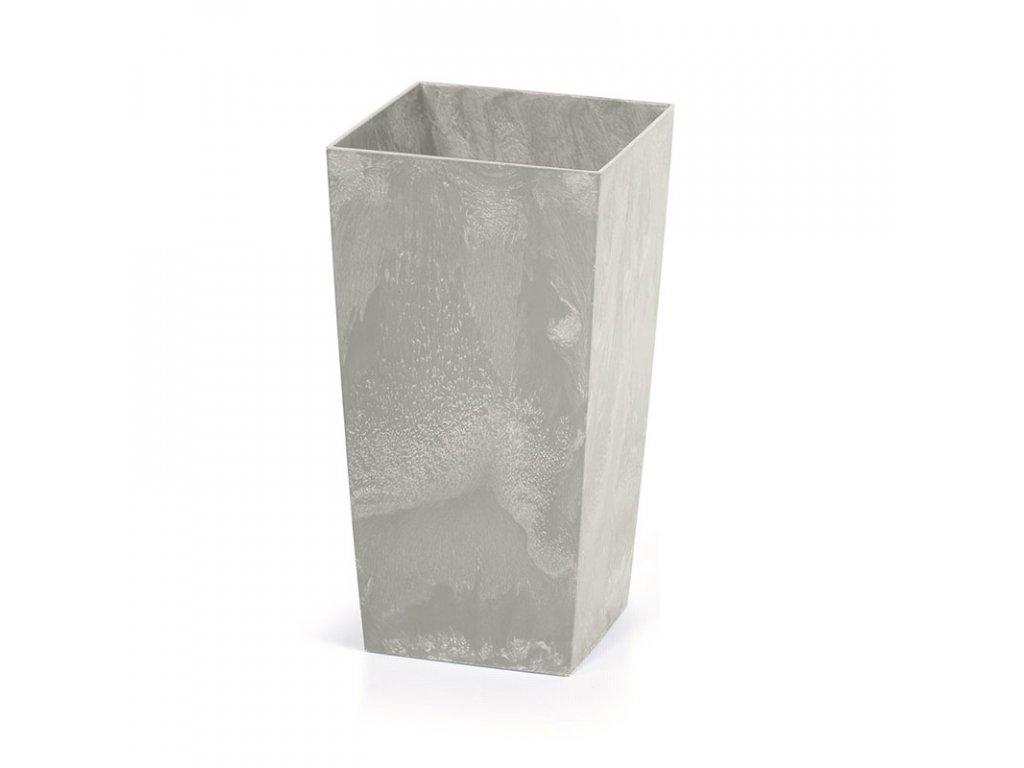 Květináč URBI SQUARE BETON EFFECT šedý 12,6 cm