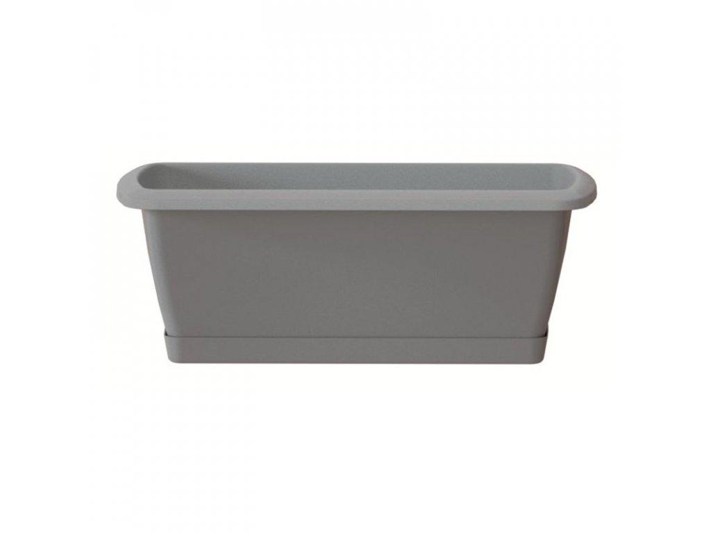 Truhlík s miskou RESPANA SET šedý kámen 59,0 cm