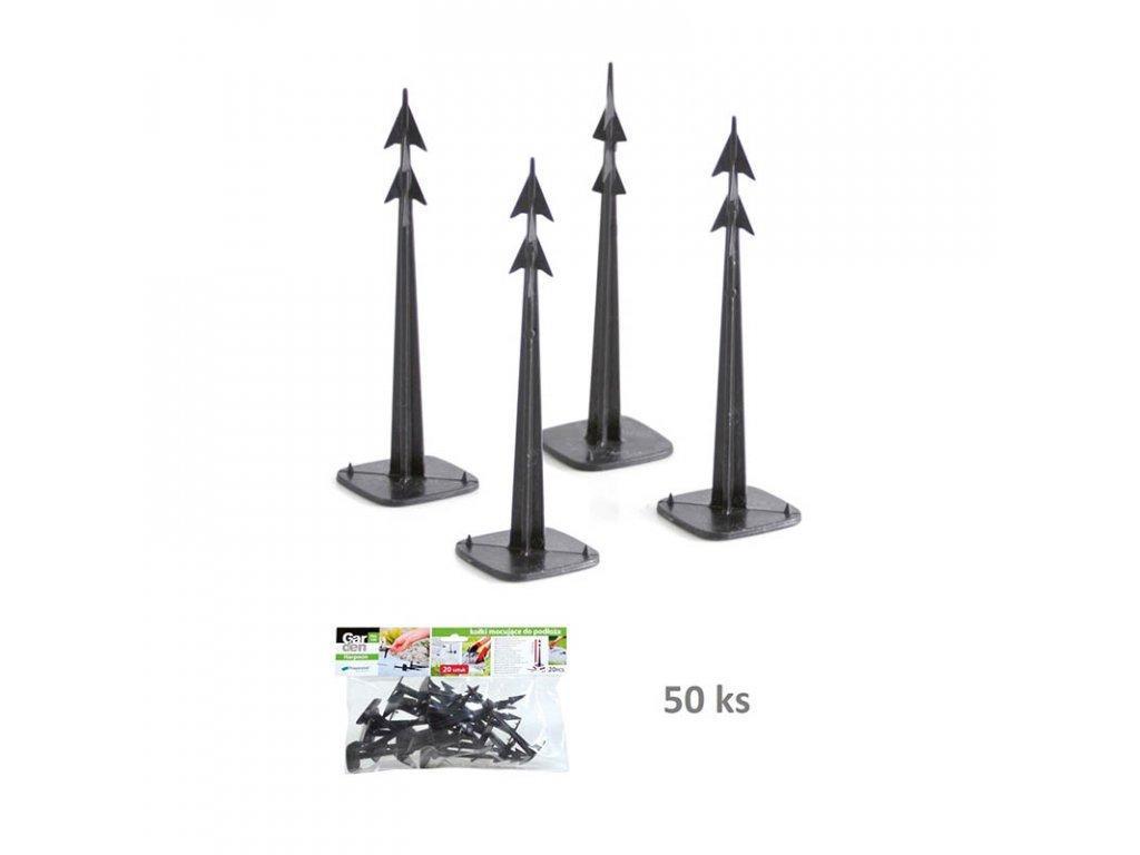 Kolíky upevňovací HARPOON PEG 120 černé (bal. 50 ks)