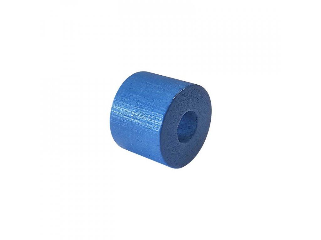 Dřevěný korálek – Válec 20/26/10mm modrá
