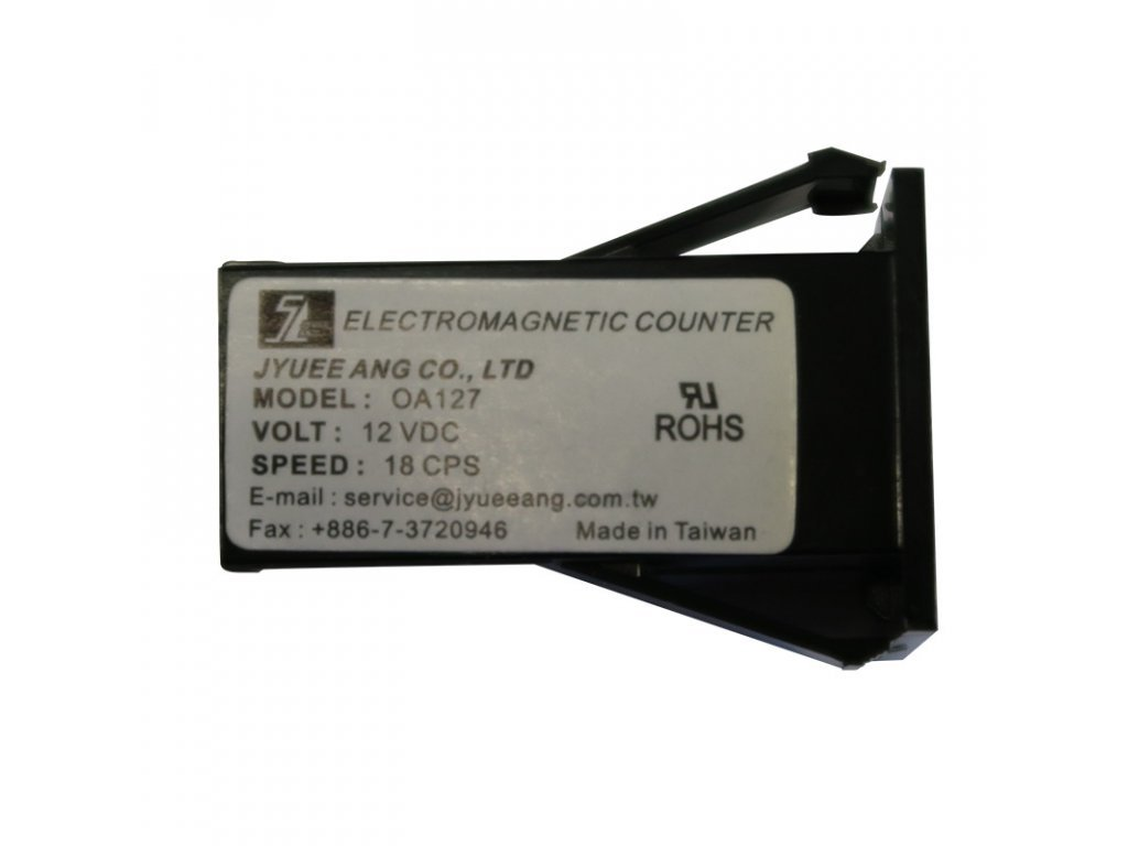 4095 elektromechanicke pocitadlo do otvoru 6 mistne 12v dc bez diody 15 cps