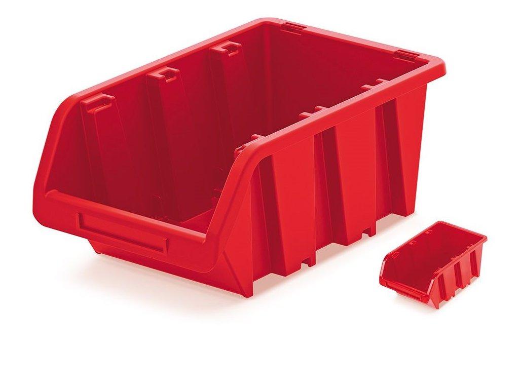 plastovy ulozny box truck 230x160x120 cerveny