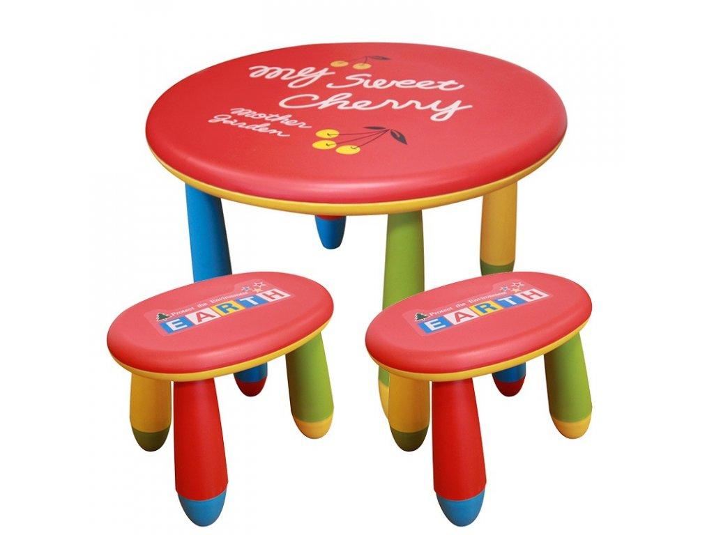 Sada dětského plastového stolu s 2 stoličkami - NERO SET 3