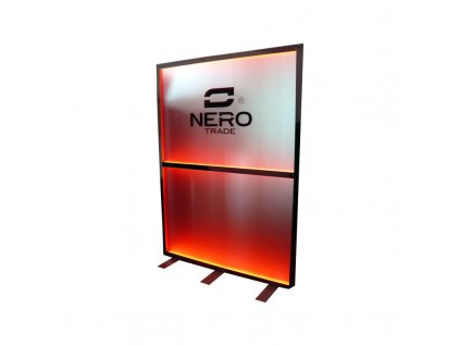 Podsvětlený poutač / zástěna NERO - vysoká