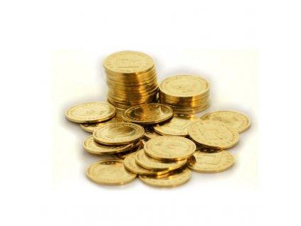 Zlatý žeton do mincovníků