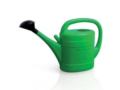 Zahradní plastová konev zelená s kropítkem. Objem 3 l.