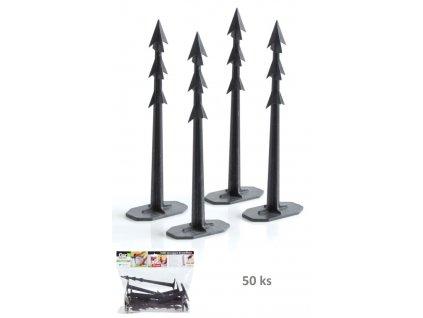 koliky upevnovaci harpoon peg 200 cerne bal 50 ks