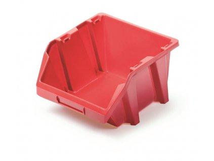 plastovy ulozny box bineer short 118x98x70 cerveny