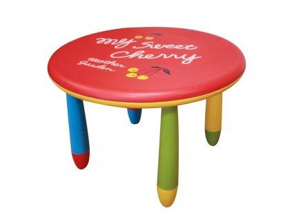 Dětský plastový stůl v hravém barevném provedení