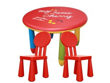 Set dětského plastového stolu a 2 židliček - NERO SET 1