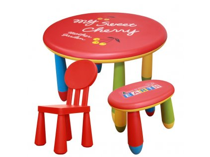 Sada dětského plastového stolu s židličkou a stoličkou - NERO SET 2